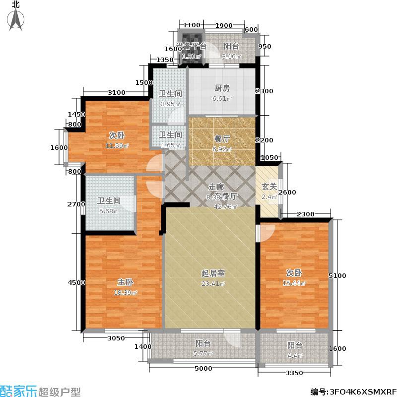万通新城国际户型3室1厅2卫1厨