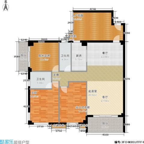 禹洲城上城1室0厅2卫1厨181.00㎡户型图