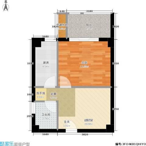 东晖广场1室0厅1卫1厨52.00㎡户型图