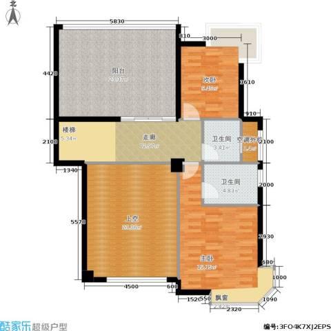东晖广场2室0厅2卫0厨136.00㎡户型图