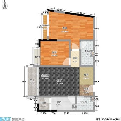 上方新人居2室0厅2卫1厨67.00㎡户型图