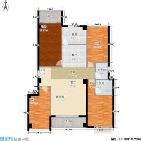 禹洲香槟城4室0厅2卫1厨200.00㎡户型图