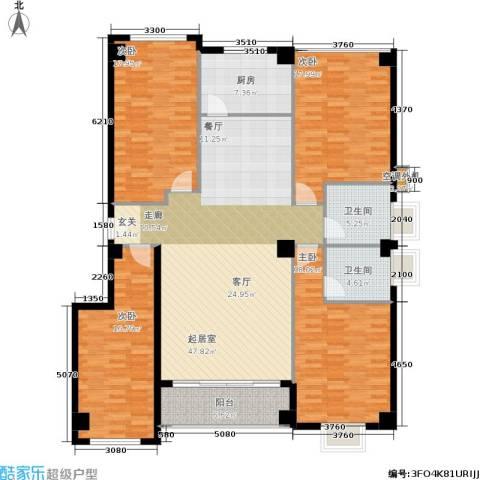 禹洲香槟城4室0厅2卫1厨198.00㎡户型图