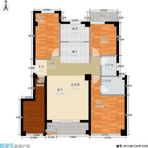 禹洲香槟城4室0厅2卫1厨148.00㎡户型图