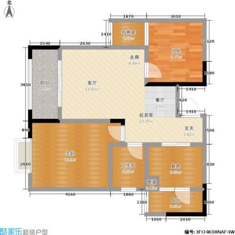 康田国际2室0厅1卫1厨70.00㎡户型图