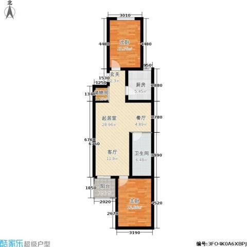 建予园2室0厅1卫1厨80.00㎡户型图