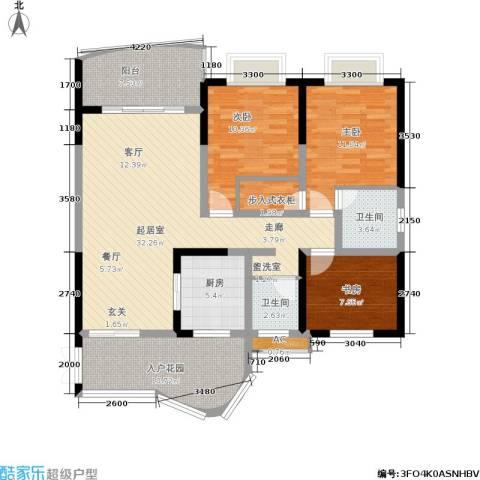 云岭天城3室0厅2卫1厨93.96㎡户型图