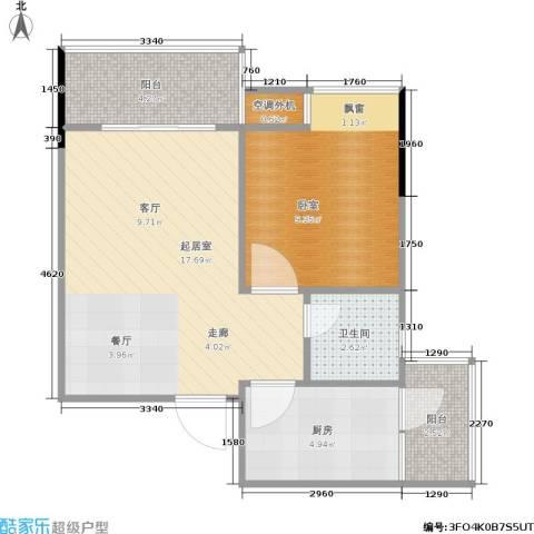 达飞玖隆城1卫1厨42.01㎡户型图