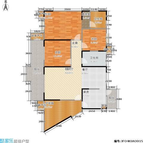 骏逸江南3室1厅2卫0厨133.97㎡户型图
