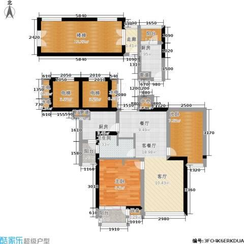 世纪东方商业广场2室1厅1卫2厨111.00㎡户型图