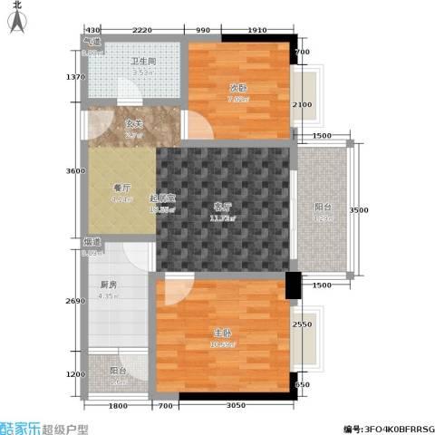上方新人居2室0厅1卫1厨72.00㎡户型图