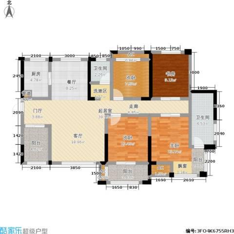 维一星城・原山苑4室0厅2卫1厨115.00㎡户型图