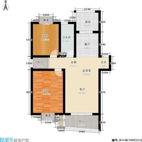 天地新城2室0厅1卫1厨93.00㎡户型图