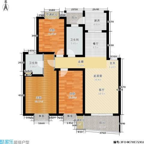 天地新城3室0厅2卫1厨116.00㎡户型图