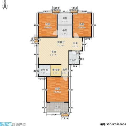 世佳戎居3室1厅2卫1厨135.00㎡户型图