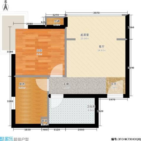 第一城A组团1室0厅1卫1厨51.00㎡户型图