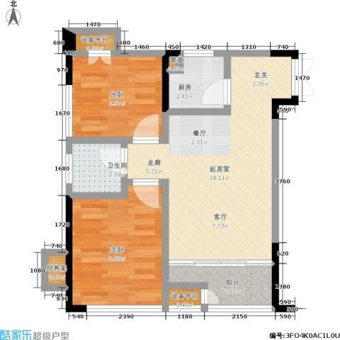 华宇老街印象2室0厅1卫1厨51.23㎡户型图