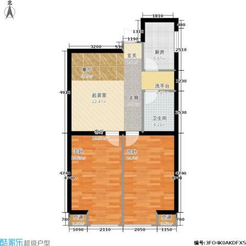 佰世雅阁2室0厅1卫1厨89.00㎡户型图