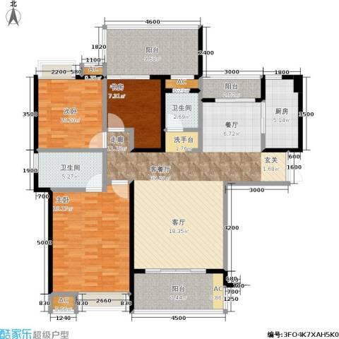特房五缘尊墅3室1厅2卫1厨156.00㎡户型图