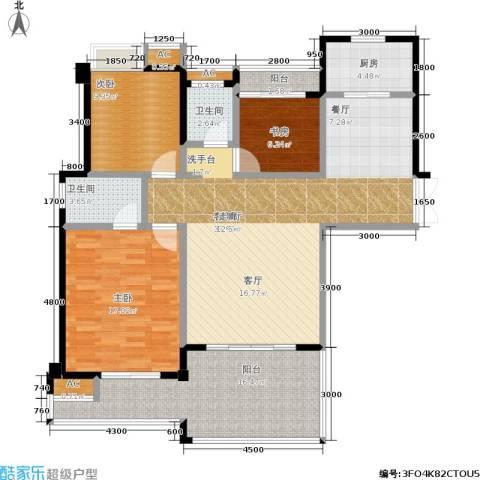 特房五缘尊墅3室1厅2卫1厨144.00㎡户型图