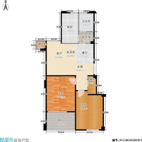 荣安琴湾2室0厅1卫1厨104.00㎡户型图