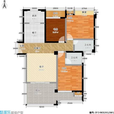 特房五缘尊墅3室1厅2卫1厨138.00㎡户型图