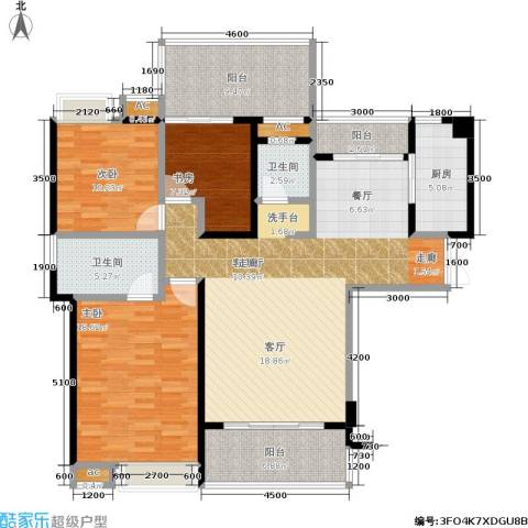 特房五缘尊墅3室1厅2卫1厨155.00㎡户型图