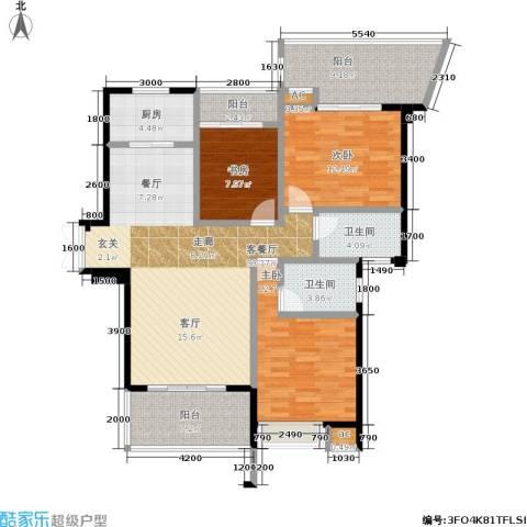 特房五缘尊墅3室1厅2卫1厨141.00㎡户型图