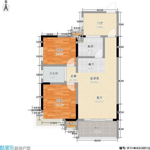锑都家园2室0厅1卫1厨87.00㎡户型图
