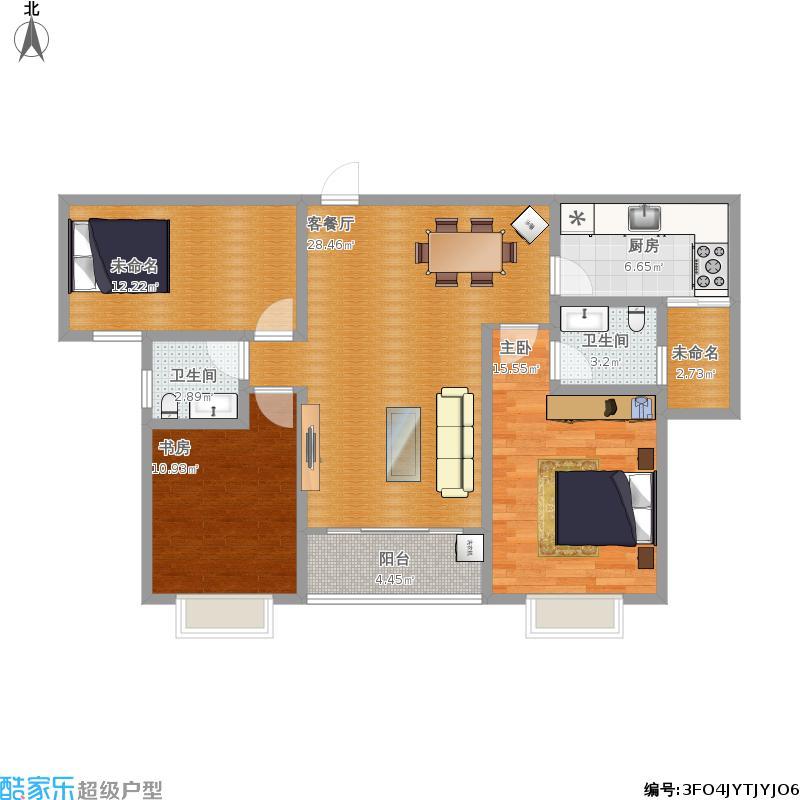 润祥122.91B3三室两厅