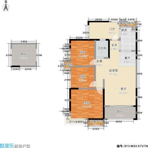 锑都家园3室0厅1卫1厨118.00㎡户型图