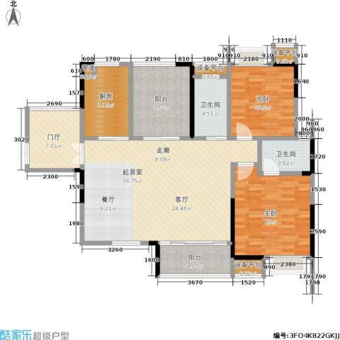 锑都家园2室0厅2卫1厨116.00㎡户型图