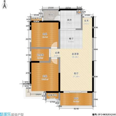 锑都家园2室0厅1卫1厨95.00㎡户型图