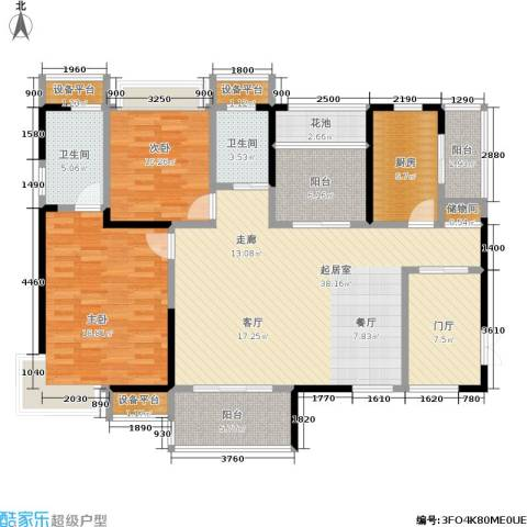 锑都家园2室0厅2卫1厨129.00㎡户型图
