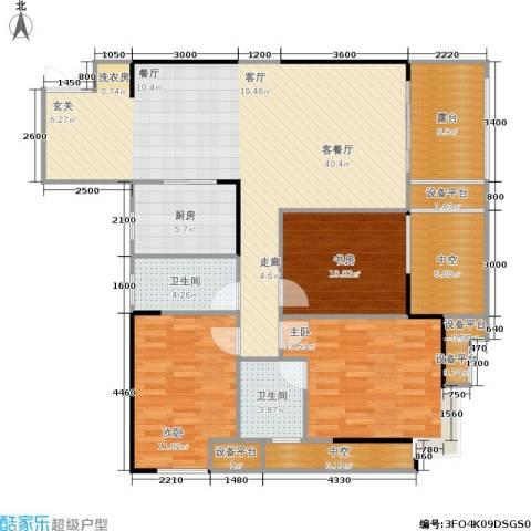 万象时代3室1厅2卫1厨118.94㎡户型图