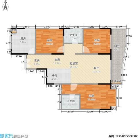金禾丽都3室0厅2卫1厨88.00㎡户型图