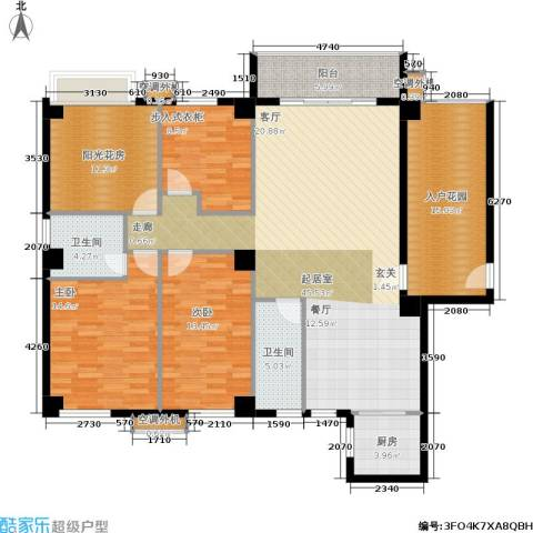 禹洲城上城2室0厅2卫1厨181.00㎡户型图