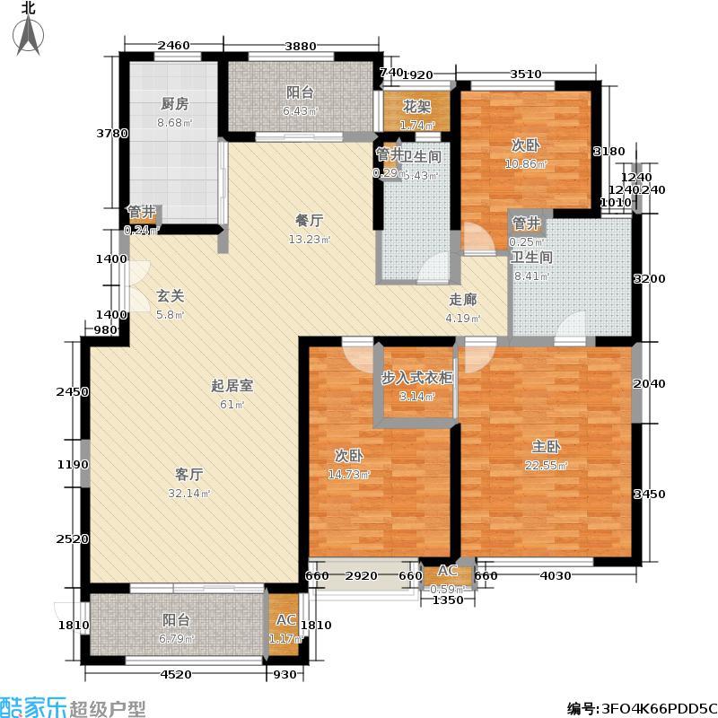 中海雍城世家173.00㎡平墅户型3室2厅2卫