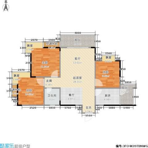 达飞玖隆城3室0厅1卫1厨78.04㎡户型图