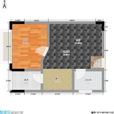 金江大厦1室0厅1卫1厨41.00㎡户型图