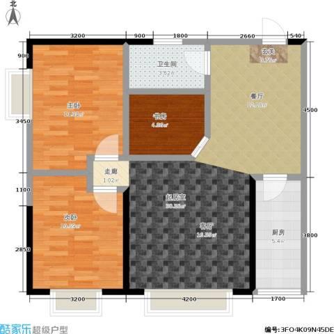 金江大厦3室0厅1卫1厨82.00㎡户型图
