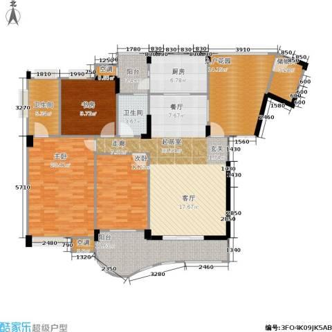 长安丽都3室0厅2卫1厨126.06㎡户型图