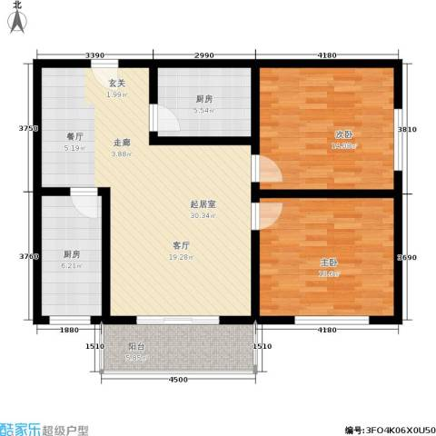 福景家园2室0厅0卫2厨92.00㎡户型图