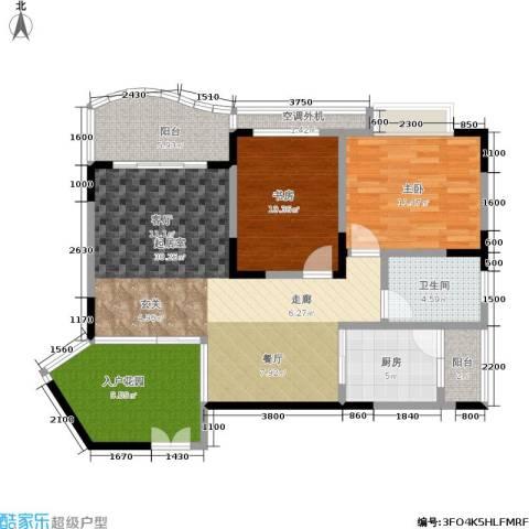 天骄年华2室0厅1卫1厨80.61㎡户型图