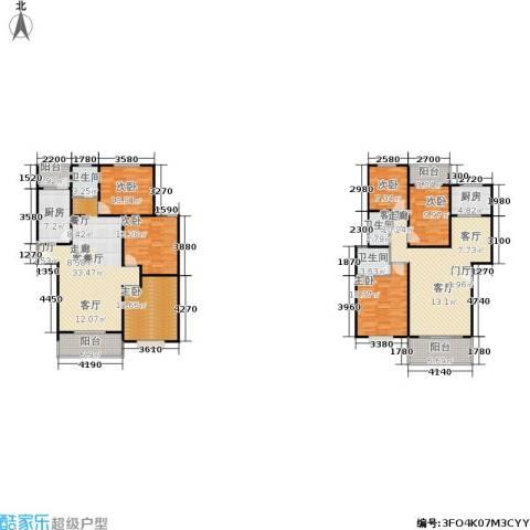 滨江美寓6室2厅3卫2厨174.09㎡户型图
