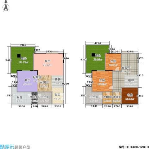 祥宏九龙明珠3室0厅2卫1厨209.96㎡户型图