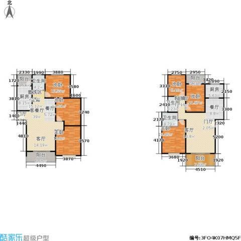 滨江美寓6室2厅3卫2厨204.34㎡户型图