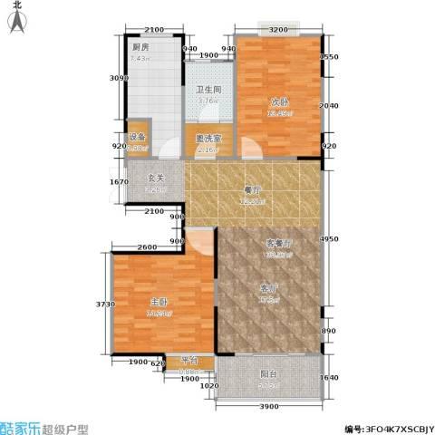金联居2室1厅1卫1厨81.66㎡户型图