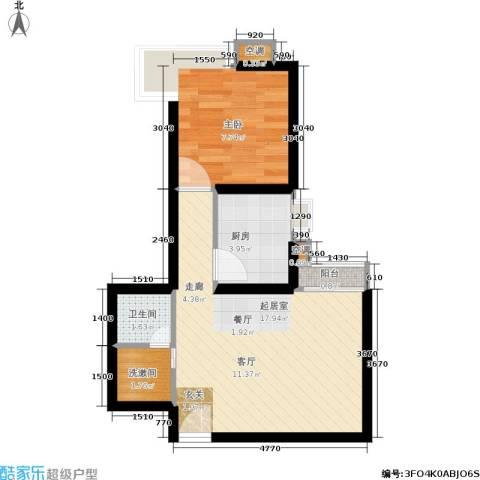嘉莲苑1室0厅1卫1厨40.00㎡户型图