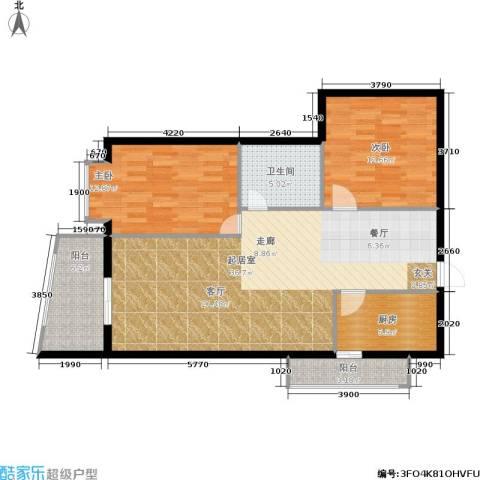 君悦天下2室0厅1卫1厨82.53㎡户型图